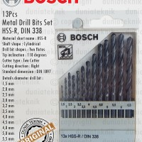 Mata Bor Besi / HSS-R Metal Drill Bit Set 13Pcs 1,5-6,5mm BOSCH