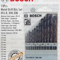 Mata Bor Besi / HSS-R Metal Drill Bit Set 13Pcs 1,5-6,5mm BOSCH