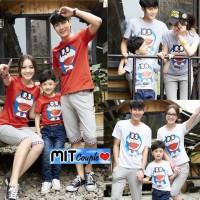 kaos keluarga doraemon lengan panjang - baju family couple