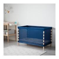 Best Seller Ikea Flitig Ranjang / Box Bayi,kayu Beech,biru,60x120 Cm