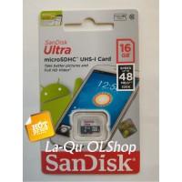 Jual Micro SD Sandisk 16 GB Class 10 Speed 48 mb/s Memori MicroSD 16GB Murah