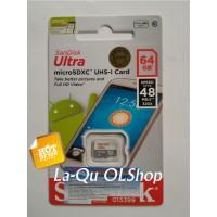Jual Memory Memori Card MicroSD Micro SD Sandisk Ultra Class 10 64GB 64 GB Murah