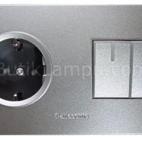Stop Kontak CP + Saklar Seri Lampu Panasonic Style Silver