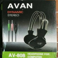 Harga HEADSET AVAN AV 808   HEADPHONE MUSIC BASS PC KOMPUTER CPU | WIKIPRICE INDONESIA