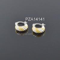 Anting putih 2 warna PZA14141