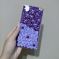 blink case mutiara bunga iphone 4 5 6 samsung grand prime j1 j2 j3 j5