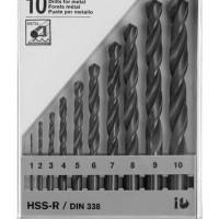 Mata Bor Besi 10 Pcs / Piece Set Bosch HSS-R Baru | Alat Pertukangan /