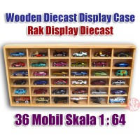 1:64 Wooden Display Case / Rak Diecast Kayu Hot Wheels Tomica Matchbox