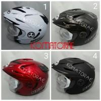 harga Helm NHK Aviator double visor white abu red black Tokopedia.com
