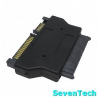 Sata 22pin To Micro Sata 16pin Adapter For 1.8 Inch SSD 3.3V / 5V - Blac