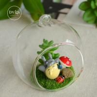 Jual [DEFECT] Totoro Terrarium hanging glass decoration Murah