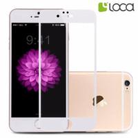 Jual iphone 6/6s Loca tempered glass fullscreen Antiblueray - White Murah