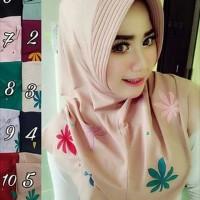 kerudung / hijab / jilbab instan bunga gelombang cinta
