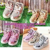 Sepatu anak import hello kitty led (nyala) size 21