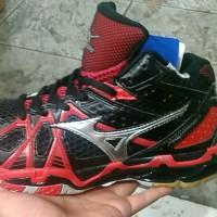 Sepatu Pria Mizuno TR9 Black Red High Volly Ball Premium Quality