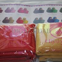 Murah! Jilbab Segi Empat Bolak Balik Merk Hijab Alsa 008 Merah Cabe &