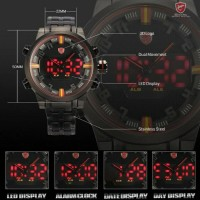 JAM TANGAN ARLOGI SPORT SHARK WATCH PRIA FASHION LED - ORIGINAL