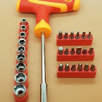 CRH 28 Bit T Handle Tool Kit Ratchet Screwdriver Set / Obeng Set