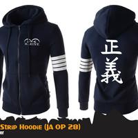 Jual Hoodie One Piece Marine JA OP 28 Jaket Hoodie Marine Biru Murah