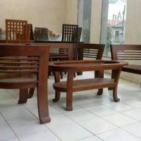 Kursi Sofa Ruang Tamu Cantik Kayu Jati Murah Minimalis