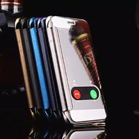 Flip Cover Miror Iphone 6 & 6s Hardcase Casing HP Unik