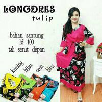 longdress tulip batik pekalongan | dress | daster | baju tidur batik