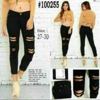 celana panjang wanita/sobek/skinny/soft jeans /