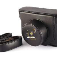 Camera Case Leather For Fujifilm X10, X20 (black) with Strap