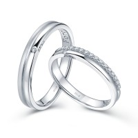 PRINCE AND PRINCESS |DP Cincin kawin tunangan pernikahan Wedding Ring.
