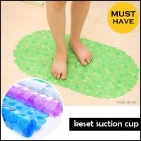 Keset Kamar Mandi Anti Slip Karet PVC SUCTION CUP (WN72)