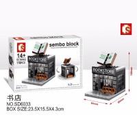 Lego Mini Block Sembo Bangunan Rumah Toko Buku SD6033