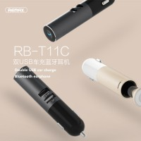 REMAX RB-T11C Mini Bluetooth Stereo Headset with Dual USB Car Charger