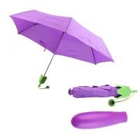 Payung Terong - Umbrella Lipat Eggplant Botol Unik Sayuran Gift Ungu