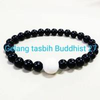 GELANG TASBIH BUDDHIST 27 BLACK ONYX