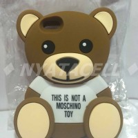 Case 4D Teddy Bear iPhone 5 5G 5S /Karakter/Moschino/Softcase/Soft