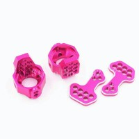 Alloy Front Knuckle KPI Sakura D4 AWD RWD RC 1/10 1:10 Pink OEM