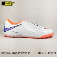 Sepatu Futsal Nike Skin Hypervenom ACC Putih Orange