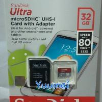 Jual Memory Memori Card MicroSD Micro SD Sandisk Ultra Class 10 32GB, 32 GB Murah
