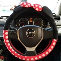 Jual Sarung Cover Stir Setir Mobil Kain Kartun Mickey Mouse Hello Kitty Murah