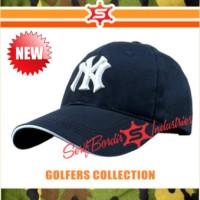 Topi Bordir Baseball Import NY New York Bordir Hitam raphel Special