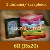 harga frame foto 3 dimensi / scrapbook uk.6R (15x20) Tokopedia.com