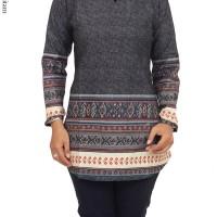 Atasan Wanita Bahan Katun Kombinasi Motif Batik Songket - AC455