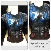 Kaos Premium Spandex Superhero Captain America SH526