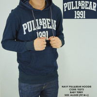 SWEATER SWITER HOODIE PULL AND BEAR PULL&BEAR 1991 NAVY POLOS COWOK
