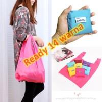 Tas Belanja Lipat Warna-warni Polos / Folding Shopping Bag
