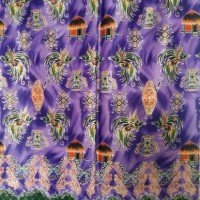 Batik Motif Papua - Ungu & Orange Cendrawasih