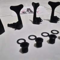 Dreyer/Tuning Machine Bass SDGR/Sound Gear black/hitam kanan-kiri 4str