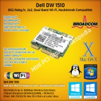 Dell DW 1510 Dual Band Wireless Broadcom BCM4322 Hackintosh Compatible
