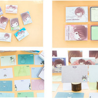 Memo Card Lanki Monsa, Pretty Girl, Daze Rabbit, Cute Face, dan Eropa