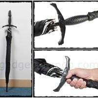 Jual Samurai Umbrella - Payung Pedang Golf Fiber Hitam Mobil Unik Besar Murah